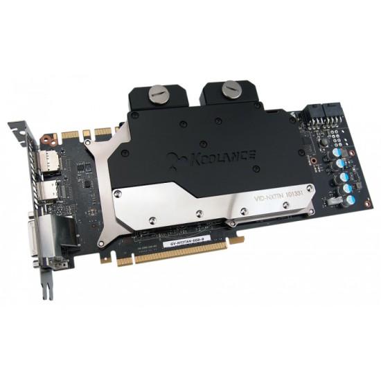 Ватерблок, установленный на видеокарте GeForce GTX Titan
