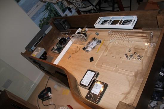 Вид проекта Моддинг проект Ethos & Cube - Desk of Awesomness на данном этапе