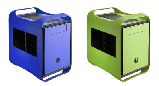 Синяя и зеленая версия корпусов BitFenix Prodigy в три четверти