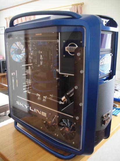 Вид моддинг проекта Cosmos II- Skyline GT-R от моддера Ronnie Hara на данном этапе