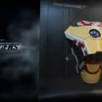 Вид справа на проект с приоткрытой броней Железного Человека