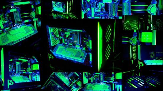 Фотоколлаж проекта L3p — Parvum в темноте