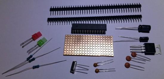 Компоненты, необходимые для сборки клона Arduino