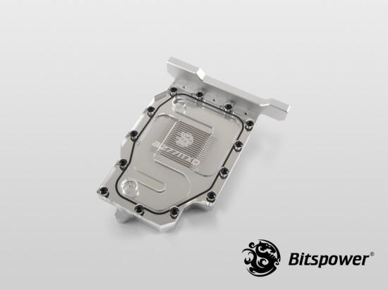 Общий вид фулкавер ватерблока Bitspower AIZ77ITXD в версии Clear с прозрачной крышкой