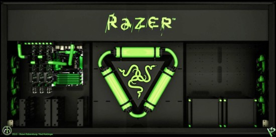 Рендер проекта Raz3r D3sk, вид сверху