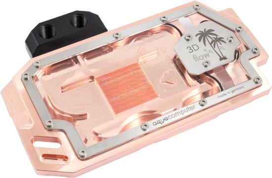 Общий вид фулкавер ватерблока AquaComputer kryographics Hawaii for Radeon R9 290X and 290