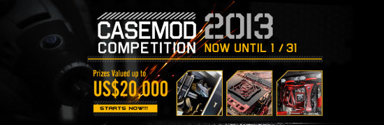 The banner for Cooler Master Case Mod Competition of 2013
