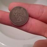 Монета, покрытая и медью, и никелем