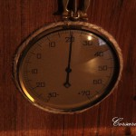 Вид вблизи на термометр