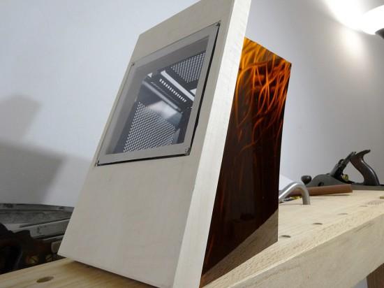 Вид моддинг проекта Dancing Iridescence - PC-Q30 на данный момент