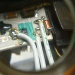 Провода подпаяны на место старой детали