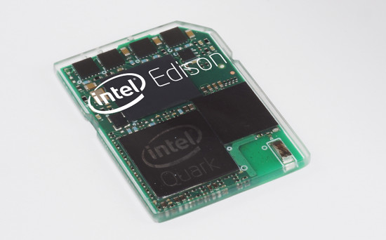Общий вид микрокомпьютера Intel Edison