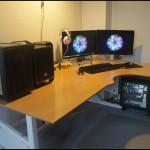 Корпус-основа на столе рядом с Bitfenix Prodigy M