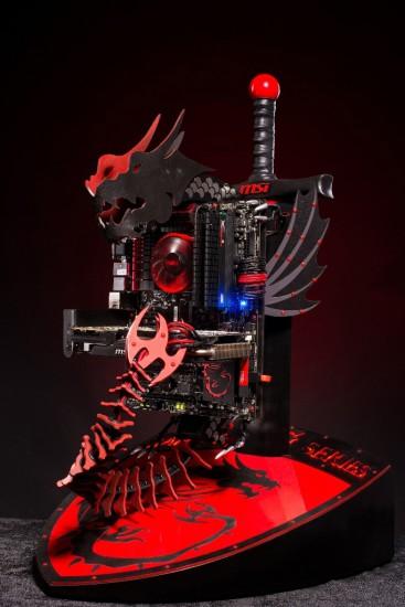 Общий вид моддинг проекта MSI Dragon PC
