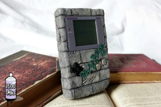 """Общий вид моддинг проекта Game Boy — Zelda """"Brick"""" от моддера Vadu Amka"""