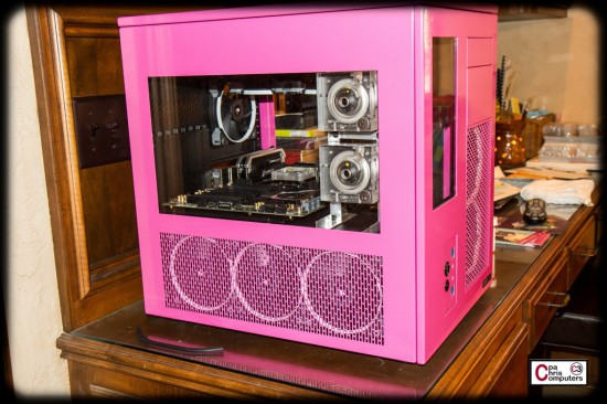 Моддинг проект The Powerful Pretty Pink Processor на данном этапе