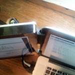 Крепдение на ноутбуке