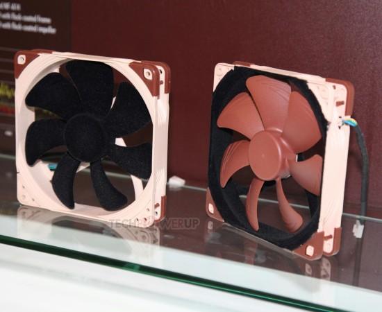 Два варианта вентиляторов Noctua с флокированными поверхностями