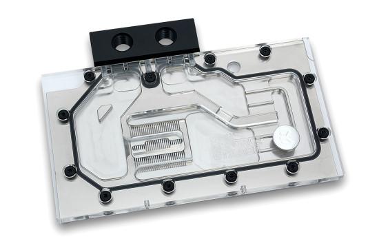 Общий вид ватерблока EK Waterblocks EK-FC980 GTX в версии с никелированным основанием и прозрачной крышкой