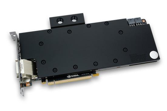 Ватерблок с ацетальной крышкой, установленный на видеокарте