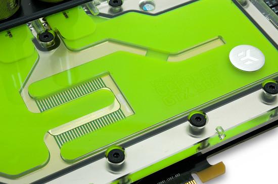 Отверстия для светодиодов в версии ватерблока с прозрачной крышкой