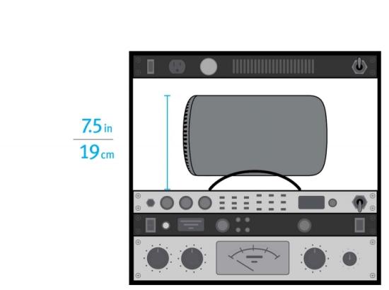 Схема возможной установки Mac Pro с другим оборудованием и показатель экономии места