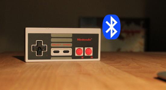 Общий вид геймпада NES после апгрейда для Bluetooth подключения