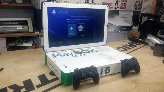 Общий вид моддинг проекта PlayBOX 4ONE в режиме PlayStation 4